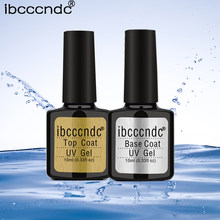 IBCCCNDC 10 ml Base Top Coat UV Gel Unha Polonês Colorido Soak Off Primer Laca Verniz Semi Permanente de Longa Duração gel Lak(China)