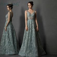 Dubai Green Evening Dresses 2019 A Line Prom Dress Formal Dress For Women Vestido de Novia de Noche Robe de Mariee