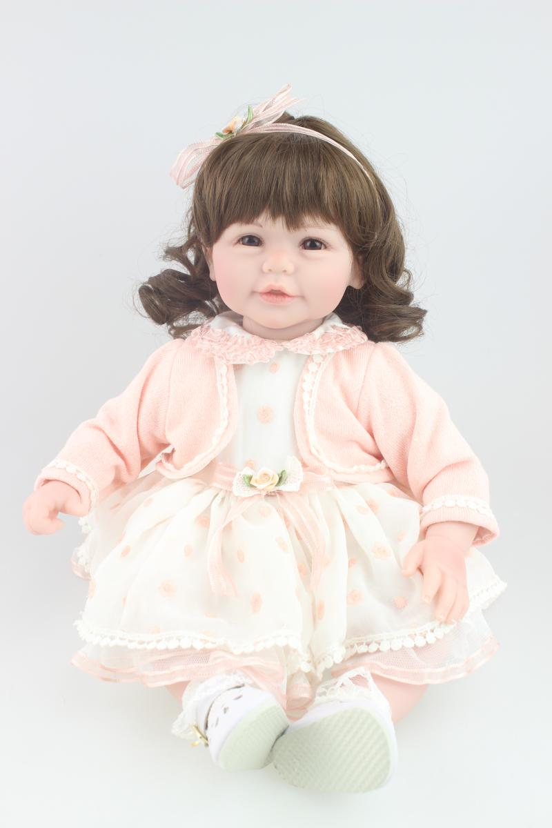 Beautiful doll curls hair design Reborn toddler girl doll sweet baby doll festival Gift Toys for friends original winx club bloom musa beautiful girl magiche fan doll collection toys