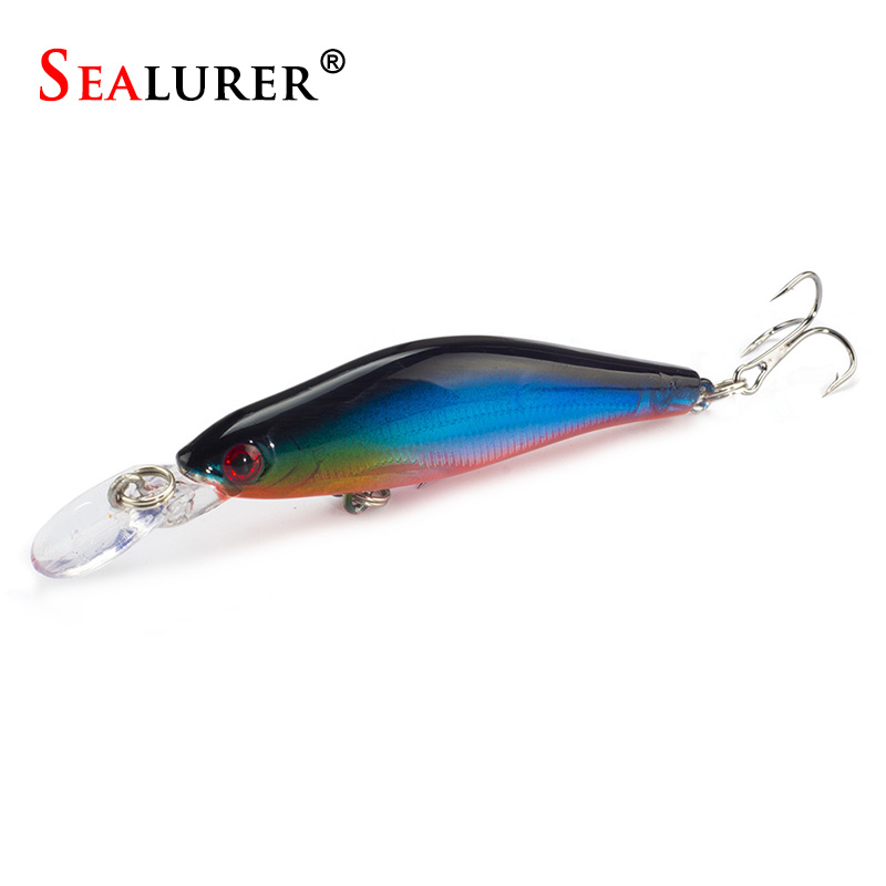 Sealurer Brand Wobbler Sinking Minnow Fishing Lure 8CM/6g Short Tongue Plastic Hard Bait Crankbait Fish Tackle Pesca Jerkbait 1pcs 12cm 14g big wobbler fishing lures sea trolling minnow artificial bait carp peche crankbait pesca jerkbait ye 37