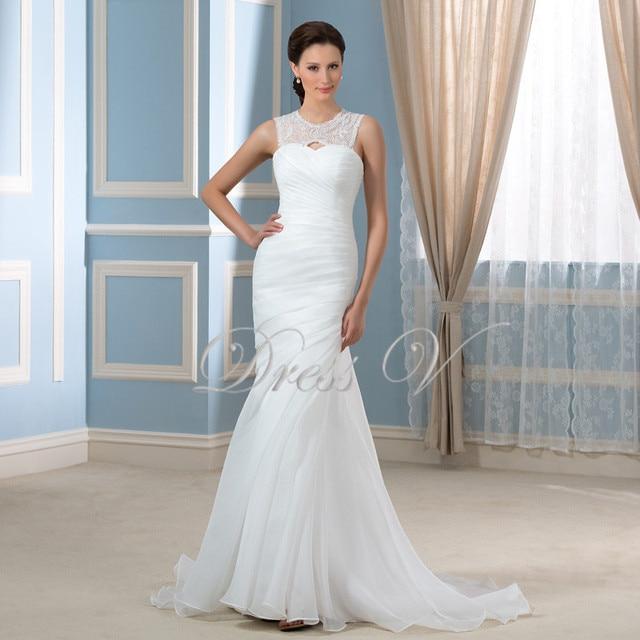 Stunning Mermaid Wedding Dresses 2016 Keyhole Back Beading Pearls Sequins Sexy Bride Dress Court Train Plus