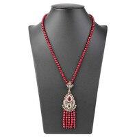 Gulkina 2017 Stylish And Elegant Punk Style Gold Fringed Pendant Necklace Vintage Jewelry For Women Marriage