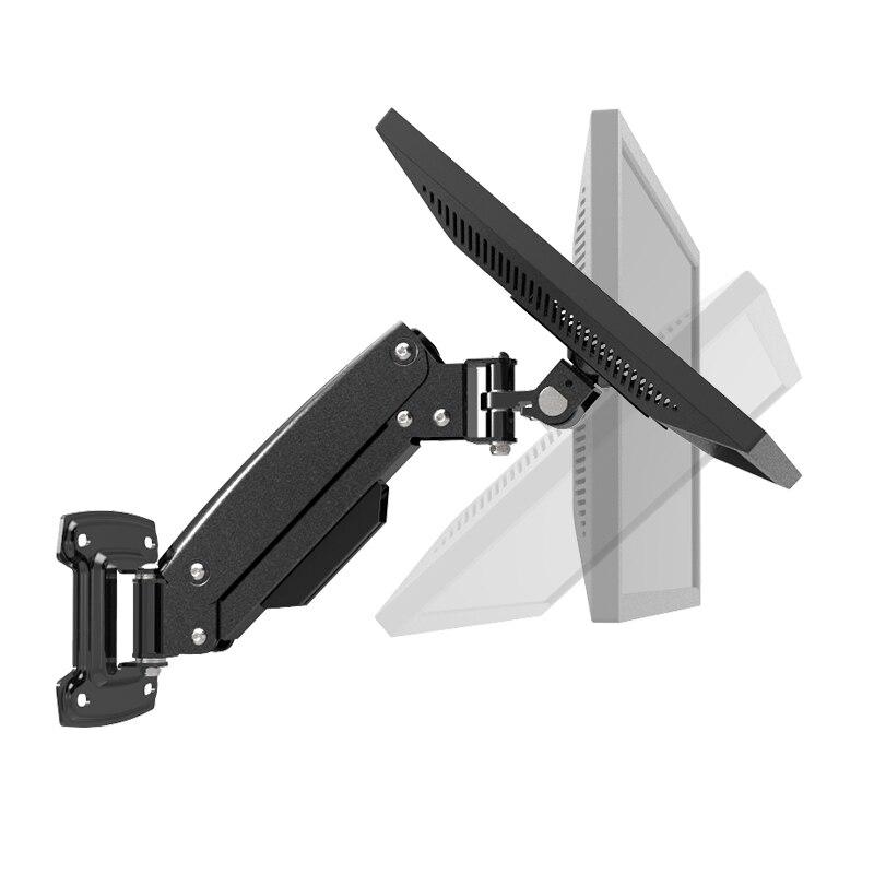 Support de moniteur LED d'affichage à cristaux liquides de bâti de TV de ressort à gaz de plein mouvement de bâti de mur chargeant 1.5-7kgs VESA 75/100mm LG310A