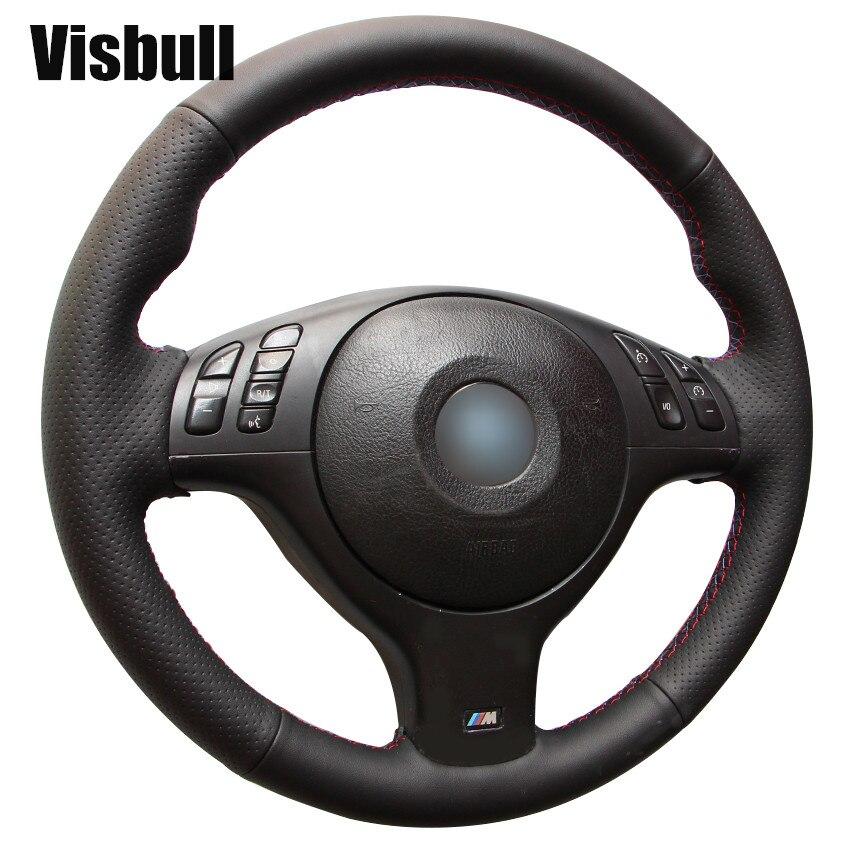 Visbull PU Leather Car Steering Wheel Cover V1004 for BMW E46