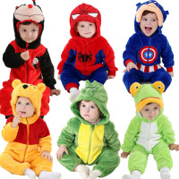 Androktones Winter Animal Kids Clothes Fleece Romper Set Baby Boys Girls Jumpsuits Overalls Cosplay Halloween Christmas
