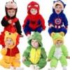 Androktones Winter Animal Kids Clothes Fleece Romper Set Baby Boys Girls Jumpsuits Overalls Cosplay Halloween Christmas