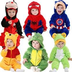 66d709858 Androktones de animales de invierno niños ropa de lana conjunto de mameluco  bebé niños niñas overoles