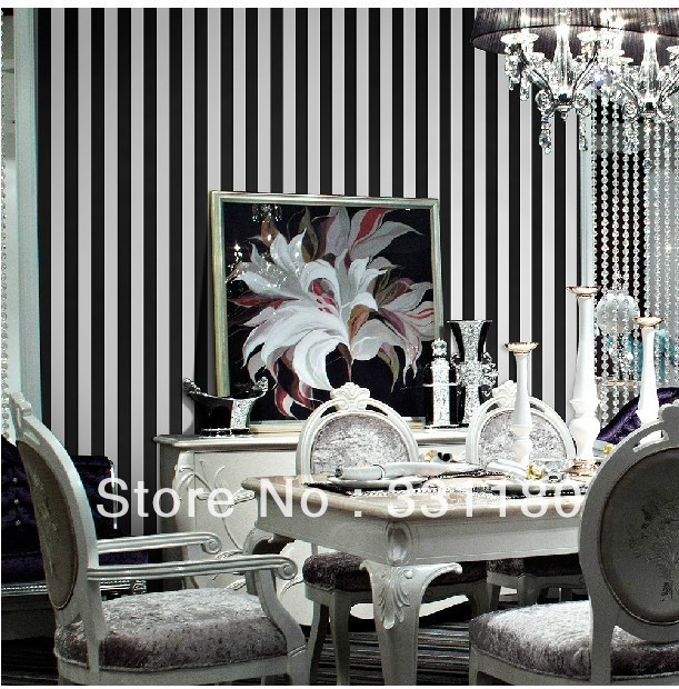 High Quality Black And White Vertical Stripes Wallpaper Roll Paper Wall Living Room  Bedroom Bathroom Background Waterproof Wallpapers