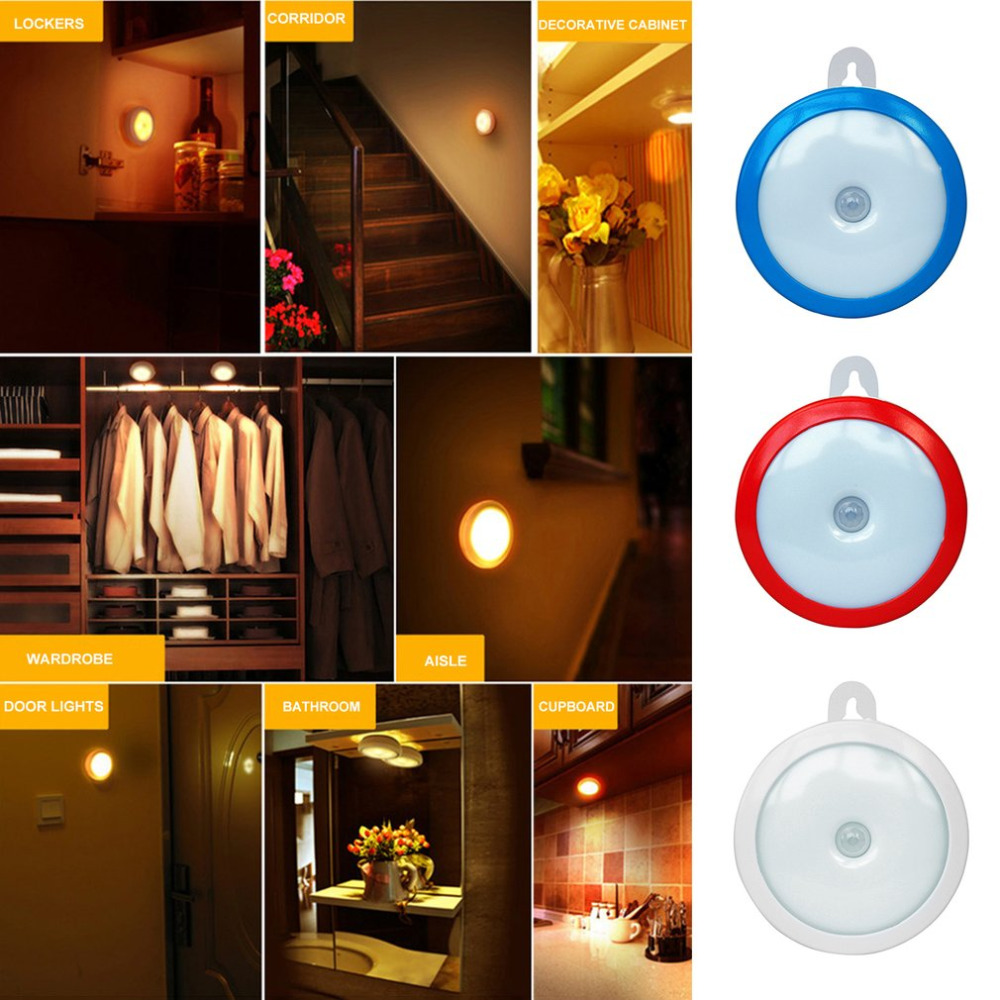 Portable Wireless 5 Led Lamp Pir Motion Sensor Light Wall Infrared Gate For Door Simple On Off Ir Photoswitch Getsubject Aeproduct