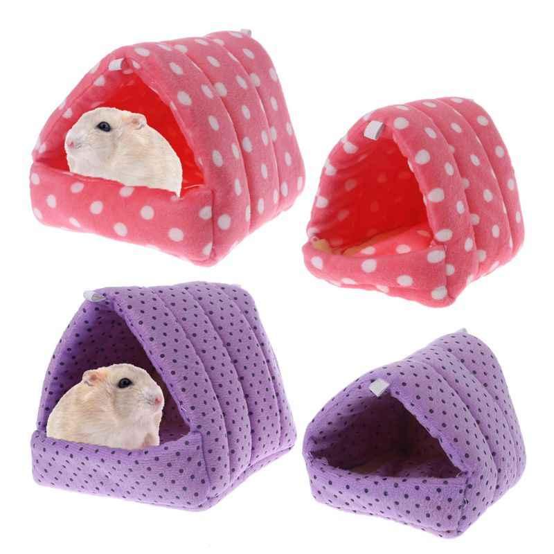 Для небольшого животного хомяка гамак морская свинка спальный мягкий домик зимний теплый дом
