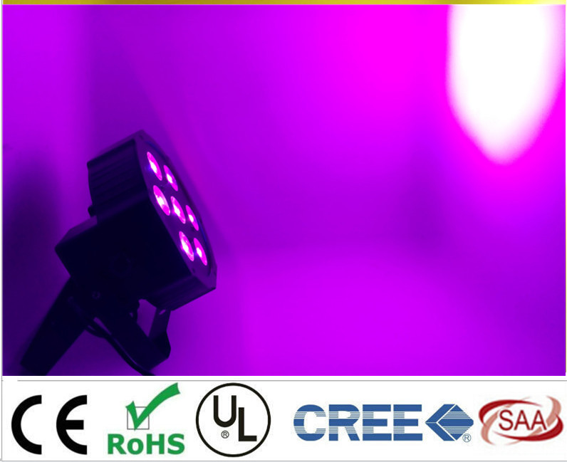 2017 7x 12W RGBW DMX Stage Lights Business Lights Led Flat Par High Power Light with Professional for Party KTV Disco DJ hot ac 90 240v 54 x 1w rgb led stage light high power flat par light led stage lighting projector lamp for party ktv disco dj