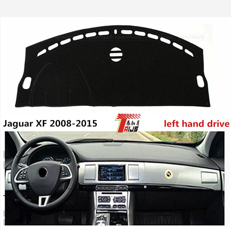TAIJS Left Hand Drive Auto Dashboard Mat Rug For Jaguar XF