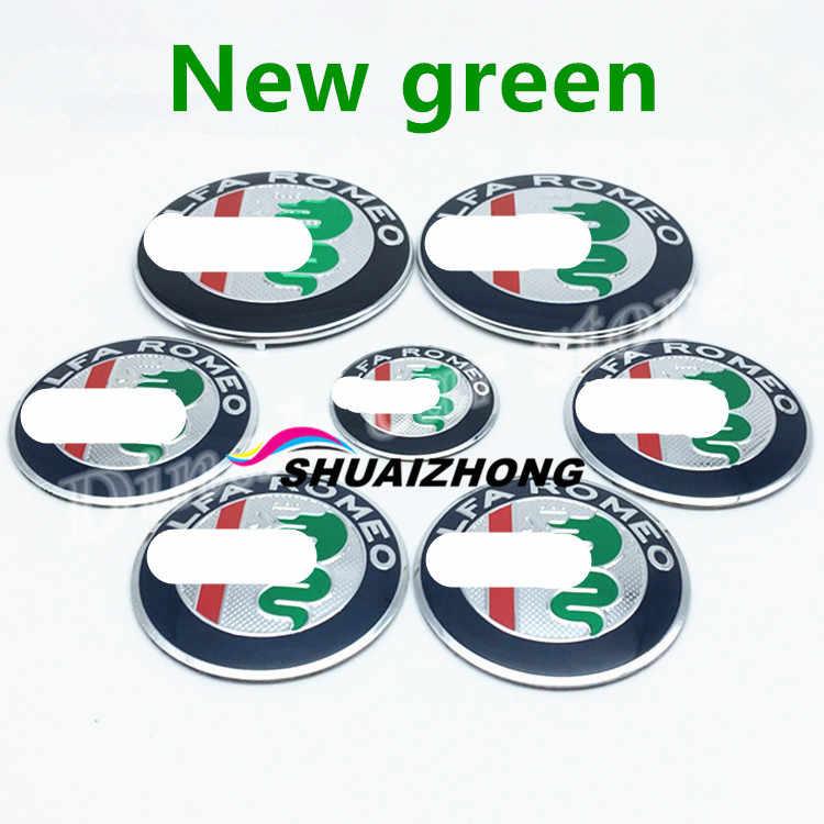 2шт 74 мм автомобильные Передние Задние Эмблемы + 40 мм рулевое колесо логотип наклейка + 4 шт 50 56 60 мм колесо центр ступицы значок для Alfa Romeo