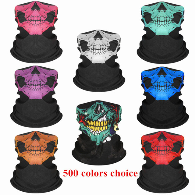 Party Face Masks Unisex Women Men Multicolor Magic Head Face Mask Neck Kids Headwear Motorcycle Cycling Tube Scarf Headband F8
