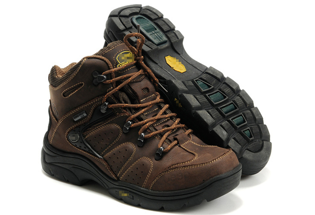 TOURSH Genuine Leather Men Hiking Boots