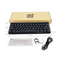 GK61 61 Key USB Wired LED Backlit Axis Gaming Mechanical Keyboard For Desktop MAY11 dropshipping