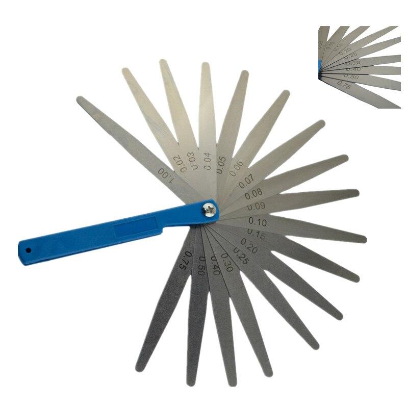 New Motorcycle Parts 0.02 To 1mm 17 Blade Thickness Gap Metric Filler Feeler Gauge Measure Tool Ruler