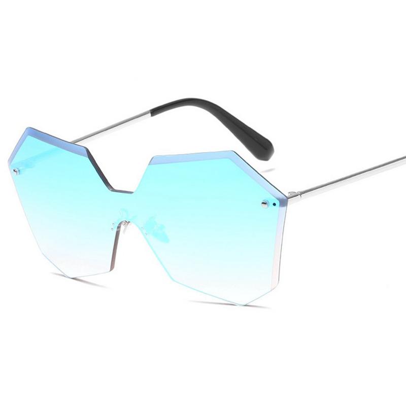 mujeres de la manera sin marco gafas de sol de espejo plano gafas de decoracin gafas