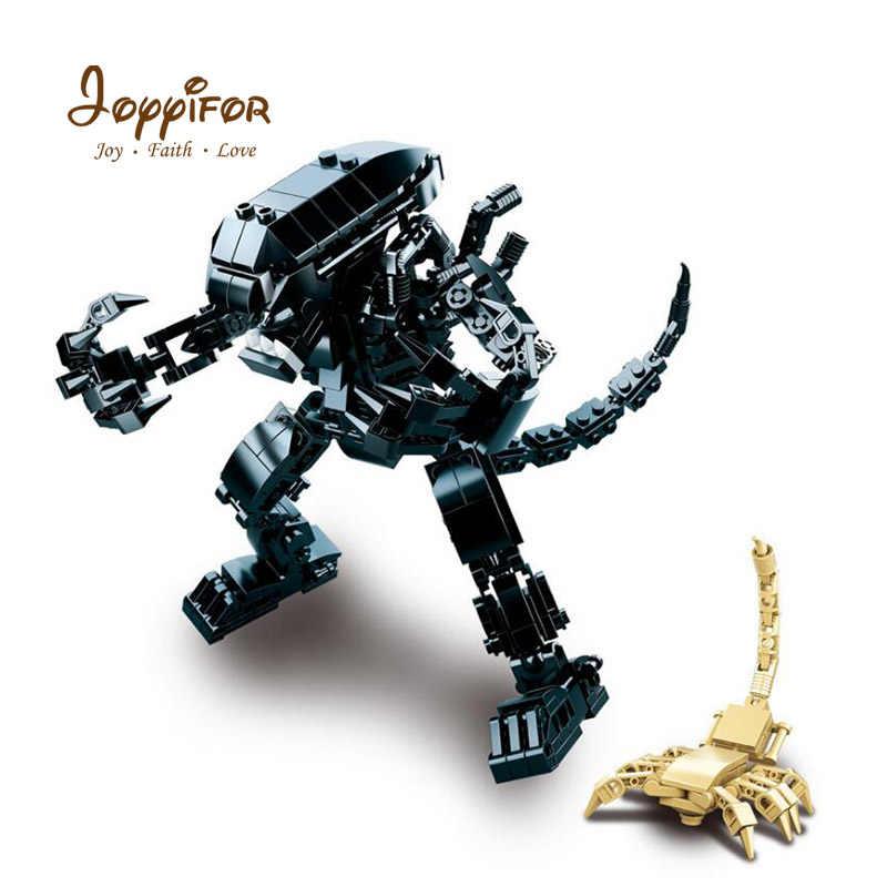Joyifor 20 см Хищник Чужой Монстр фигурку Скорпион воин Building Block Кирпичи Модель legoinglys игрушечные лошадки для детей