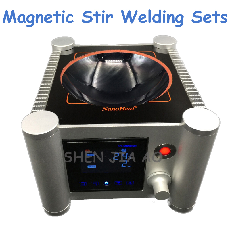 1pc 2000ml Laboratory Equipment Semi-Circular Magnetic Stir Welding Sets of Microcrystalline Ceramic Heating Uniform