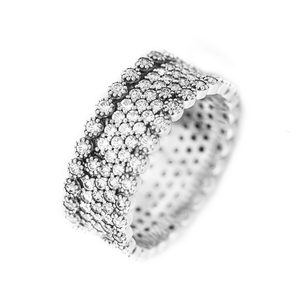 Image 2 - Authentic 925 Sterling Silver Rings for Women Clear CZ Lavish Engagement Wedding Ring Fashion Jewelry Accessories