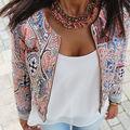 Hot New Women Floral Long Sleeve Suit Top Jacket Coat Slim Cardigan Outwear 6-16