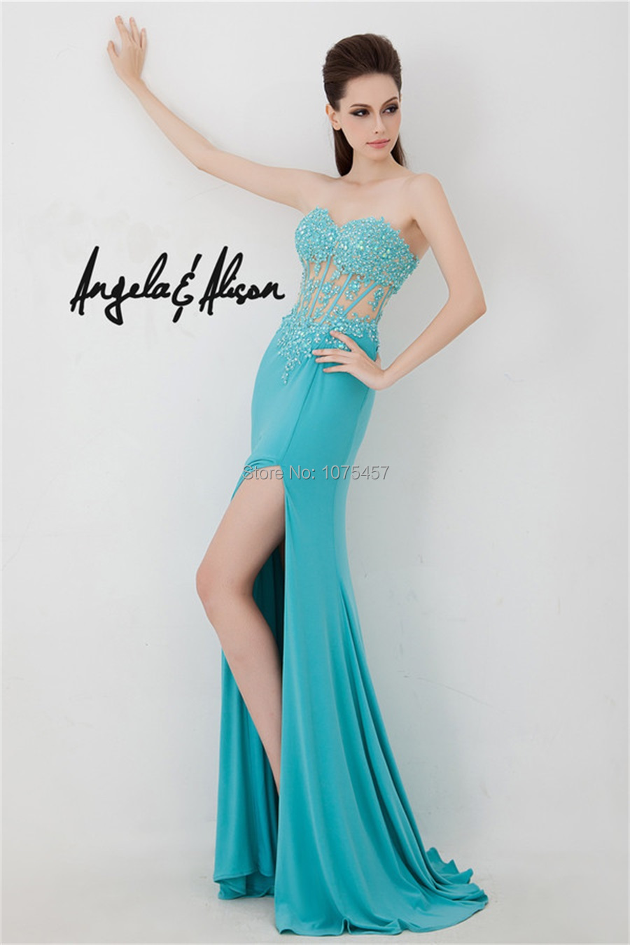 Aliexpress.com : Buy Free Shipping Sexy See Through Prom Dress ...