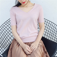Woman S 100 Merino Wool Out Door Sweater T Shirt V Neck Sweater T Shirt Comfortable