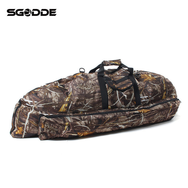 Best Deals 115*45*4cm Camo Compound Bow Bag Archery Arrow Carry Bag Case Outdoor Hunting Holder Pouches Portable for Hunter