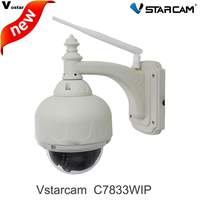 Free Shpping Vstarcam T7833WIP P2P Plug Play Outdoor PTZ Wireless WiFi 1MP HD 720P IP Camera