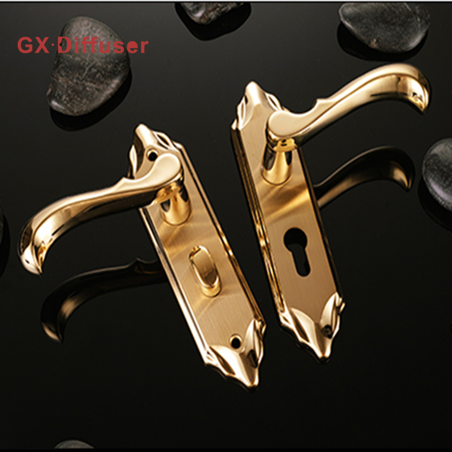 GX Diffuser Room Door Lock Stainless Steel Interior Doors Handle Locks European Style Anti-theft Gate Locksmith Home Hardware europe standard 304 stainless steel interior door lock small 50size bedroom big 50size anti shelf strength handle lock