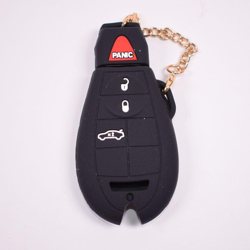 YAQUICKASilicone Car Remote Key FOB Cover Case Case Bag Dodge JCUV - Aksesorë të brendshëm të makinave