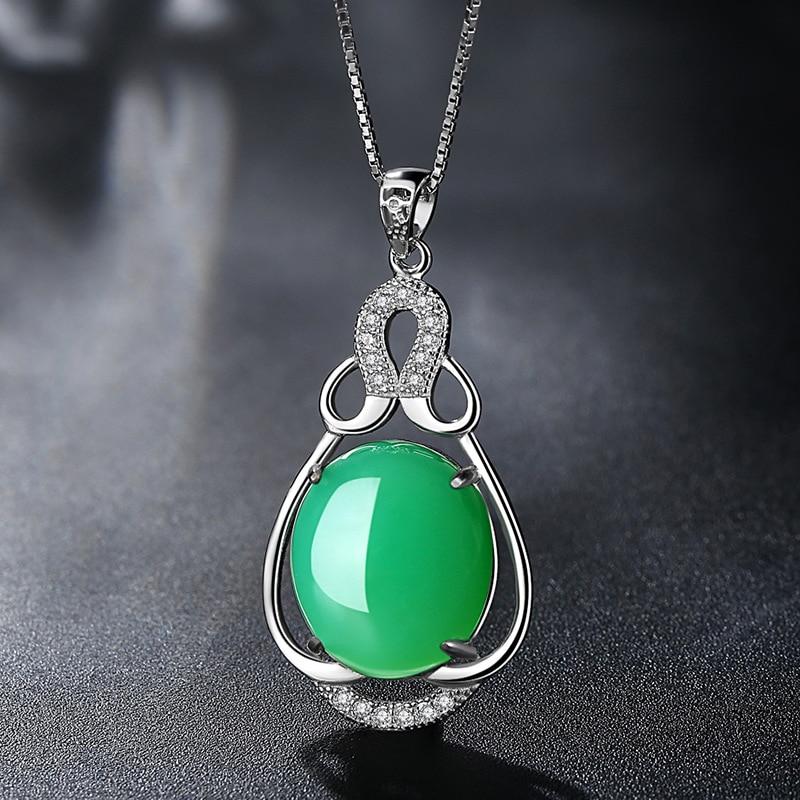 Collar de plata de la joyería de la marca 925 gotas colgante - Joyas - foto 2