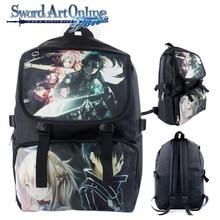 d05f158eb0 Anime Sword Art Online Nylon Backpack Cartoon School Bag Student Bags  Double Shoulder Anti Water Boy