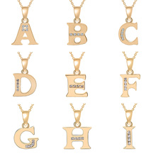 Cursive all 26 English Initial Alphabet name Necklace tiny word Letter monogram charm Metal Engagement necklace