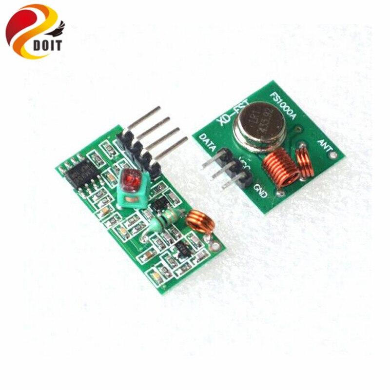 DOIT RF Wireless Receiver & Transmitter Module Board Super- Regeneration 315/433MHZ DC5V (ASK /OOK) For Arduino