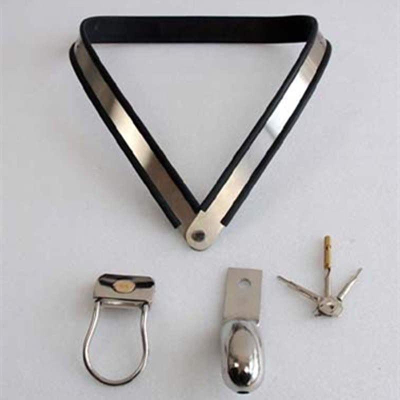 stainless steel simple Silicoliner male chastity belt fetish bdsm bondage cock cage erotic toys sex games adult sex toys for men