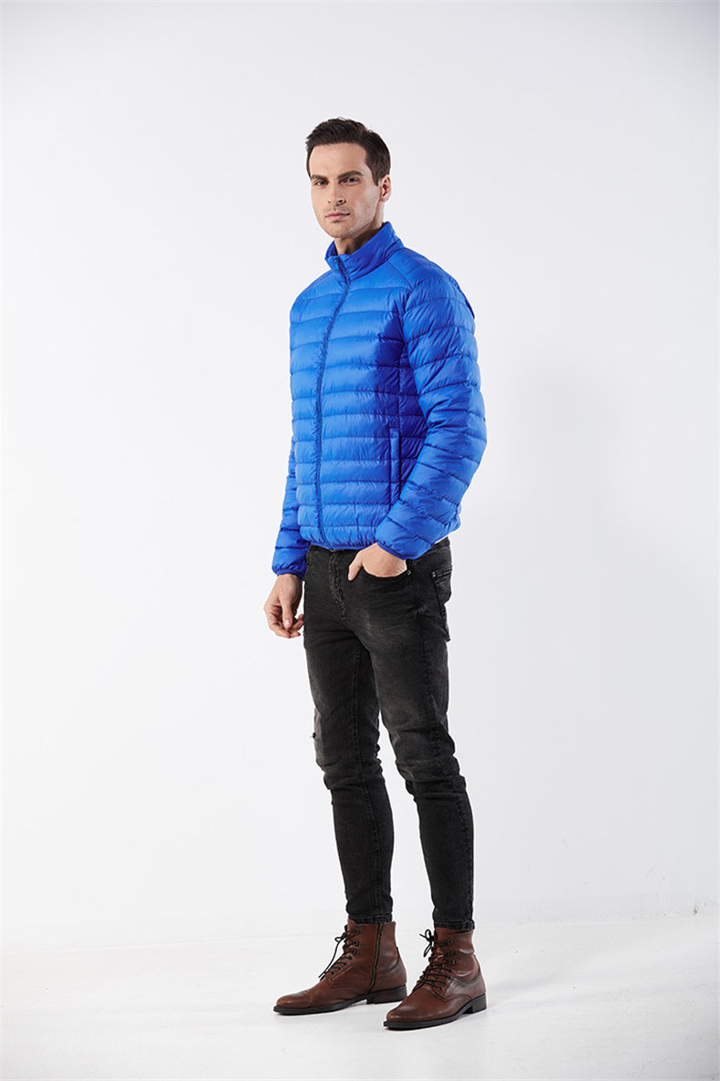 Customized White Duck Down Jacket Men Winter Ultralight Light Male Parka Coats Man Brand Clothing Water Resistant Outwear Autumn7
