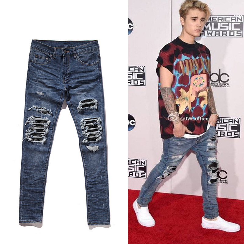 2017 TOP Best version Justin Bieber fashion men Jeans 30 ...