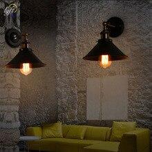 Lyfs אירופאי עתיק ברזל קטן כיסוי קיר מנורת כפר אישיות יצירתי קיר מנורת רטרו ברזל תאורה שחור/לבן