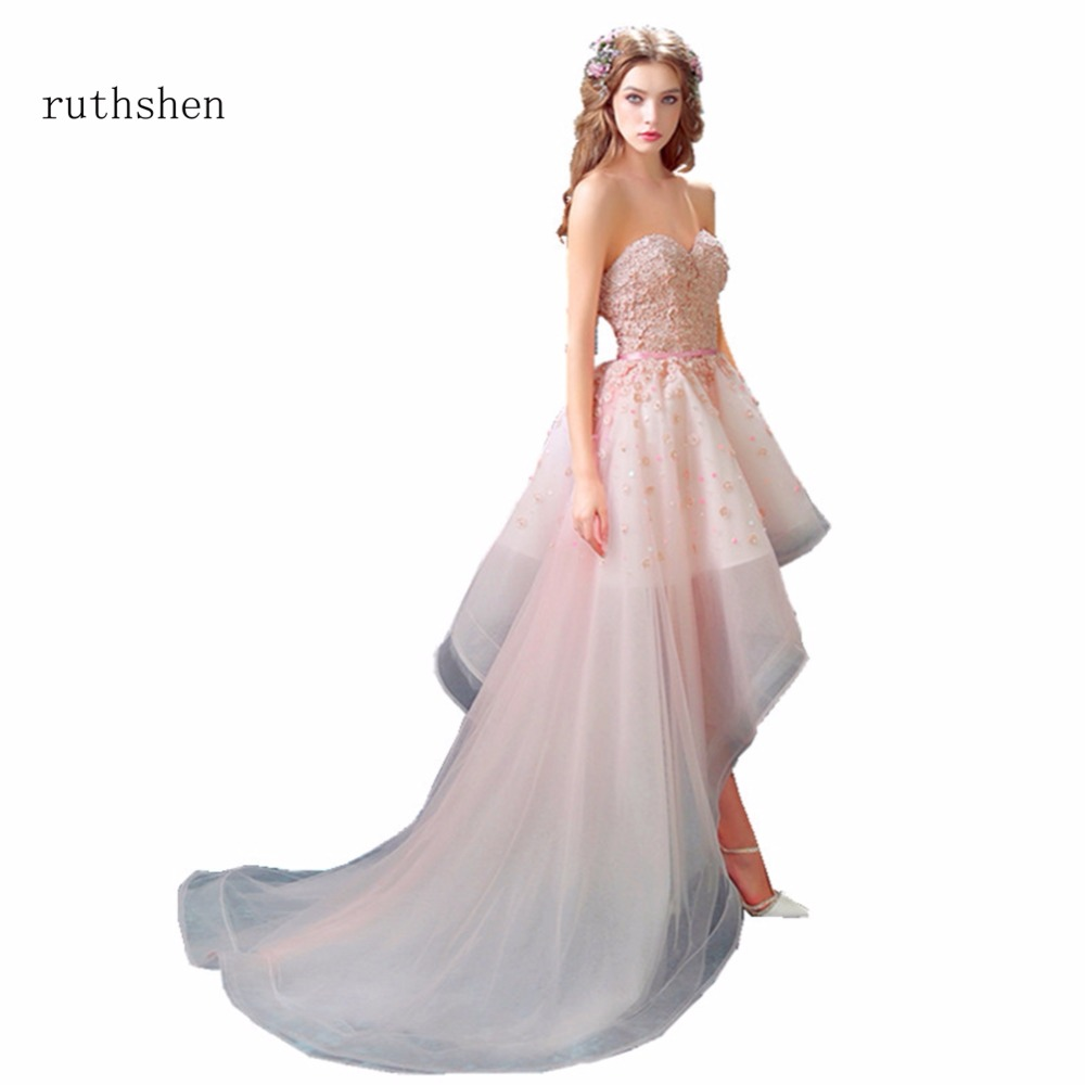 Wedding Gowns In Color: Ruthshen Real Photo High Low Cheap Wedding Dresses