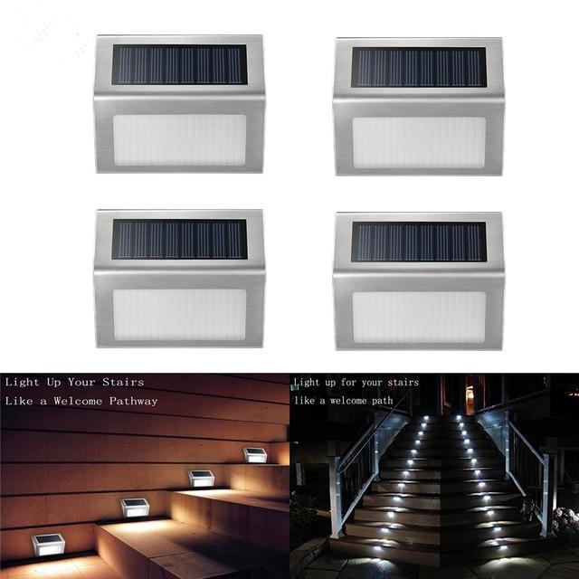 Charmant 4pcs/lots Solar Light Outdoor Indoor Waterproof Stair Lights Mini LED  Energy Saving LED Flood