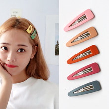 1Pc Cute Hairpins Candy Color Snap Hair Clip for Girls Hair Pins Unique Women's Gift BB Clip Hairclips Hair Accessories(China)