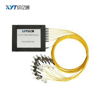цена на 4pcs/lot 8ch dwdm mux demux single fiber LC UPC connector EMS free shipping