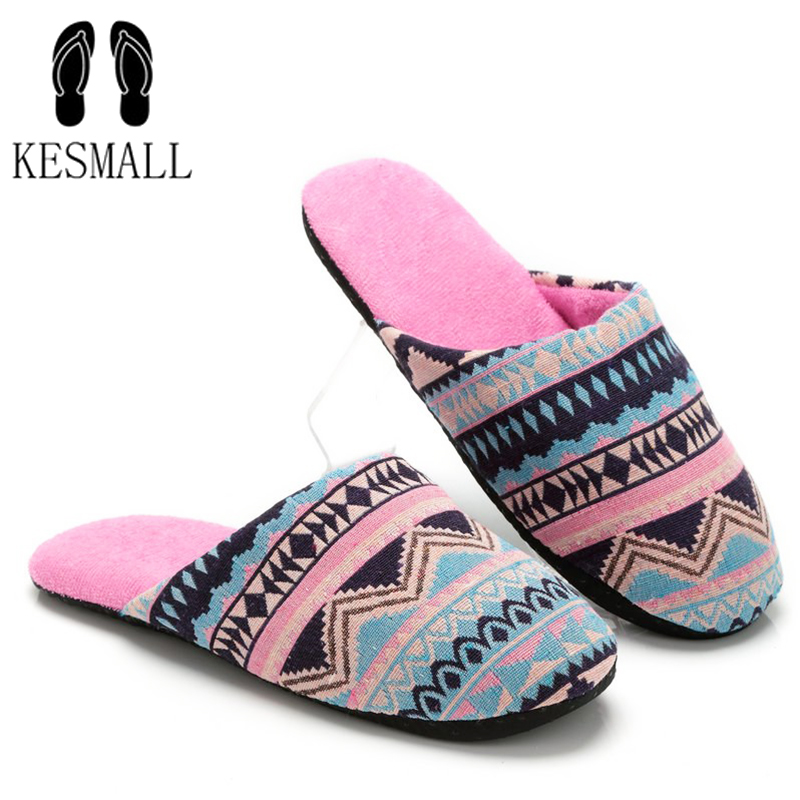 KESMALL Women Slippers Luxury Shoes Women Design Comfortable Slippers Winter Warm Home Slippers Flat Plush Floor Soft Mules fongimic comfortable women slippers women casual indoor plush shoes autumn winter warm fashion slippers hot sale flat slippers
