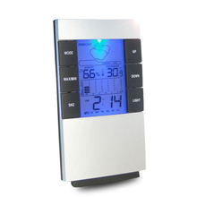 Sale Humidity Thermometer Temperature Meter Indoor Weather Forecast Clock LCD Digital Hygrometer