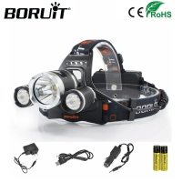Hot Boruit Headlamp XML T6 5000 Lumens 4 Mode LED Headlight Led Rechargeable Hunting Spotlight Lamp