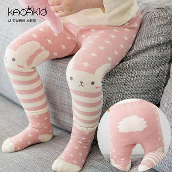 Kid's Cotton Skinny Pants with Cartoon Pattern 5