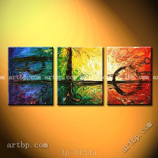Weighed In The Balance Oil Painting On Canvas Abstract Nature  Pcs Set