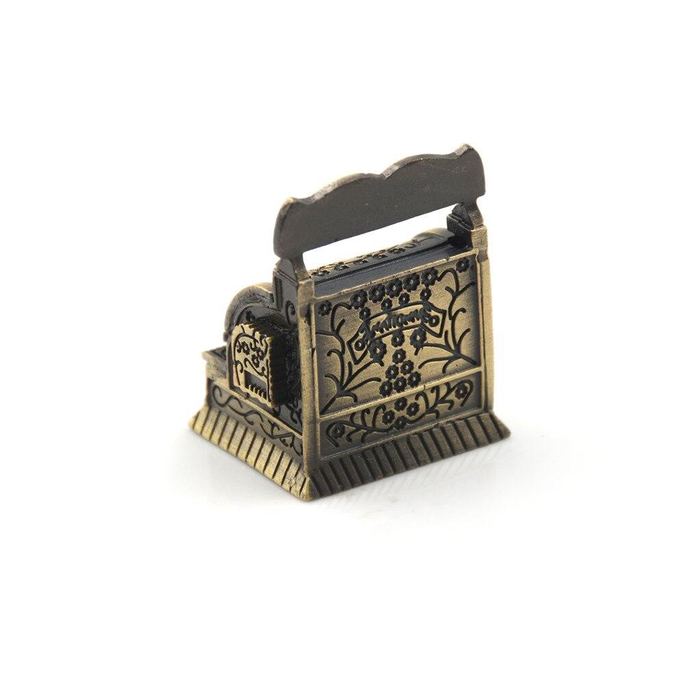 Vintage Metal Cash Register 1:12 Dollhouse Miniature Accessories 1/12 Furniture